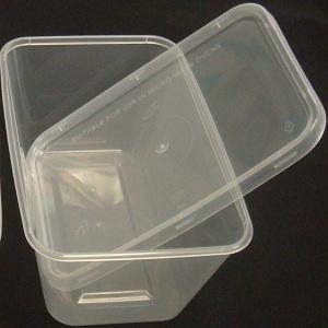 Picture of Plastic Container + Lid Medium 650ml (5 Packs)