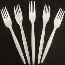 Picture of Plastic White Forks - 20 pieces