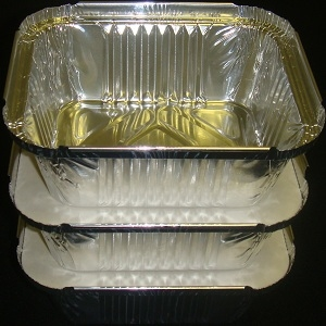 Picture of Foil Container No 1 Small + Lids (50 packs)
