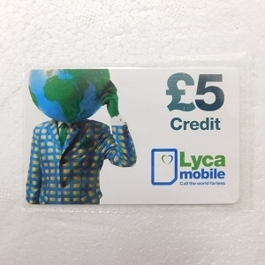 Picture of Lyca £5 Top-Up Voucher
