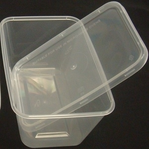 Picture of Plastic Container + Lid Medium 650ml (Box - 250 Packs)
