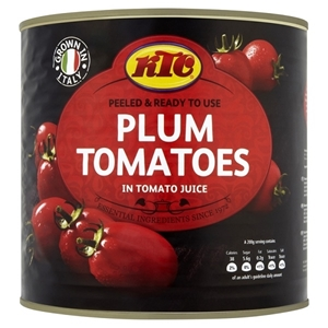 Picture of Box KTC Peeled Plum Tomatoes 6 x 2550g