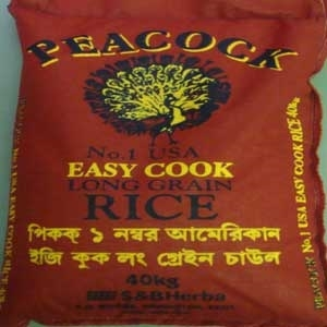Picture of Peacock No. 1 USA Easy Cook Long Grain Rice 40kg