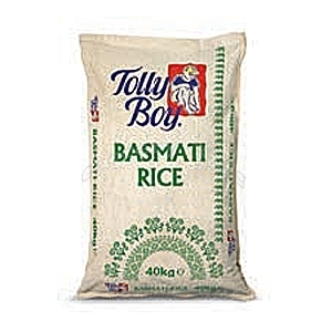 Picture of Tolly Boy Basmati Rice 40kg – Hessian Bag